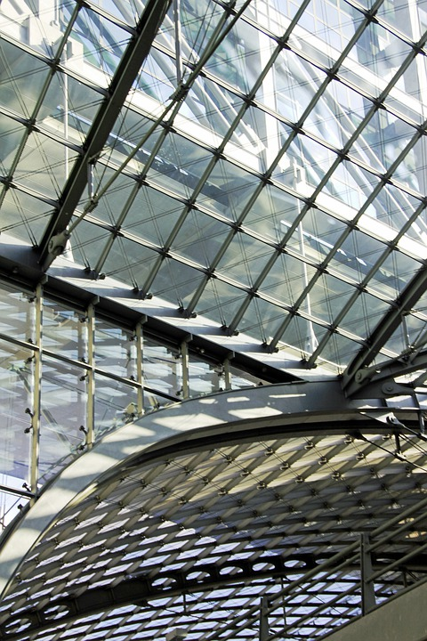 Glass, Roof, Sky, Glass Roof, Railway Station