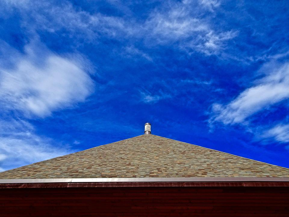 Perspective, Sky, Roof, Blue
