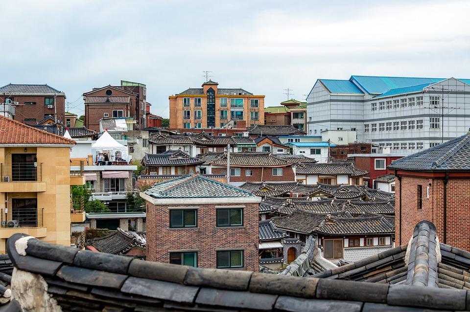 Seoul, Hanok, Roof, Bukchon, City, At Home, Buildings