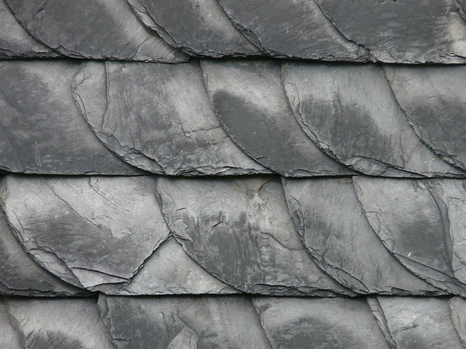 Slate, Slate Roof, Roof, Skewness, Stone, Grey, Dark