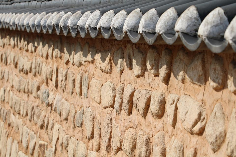 Wall, Stone Wall, Soil Dam, Roof Tile, Pattern