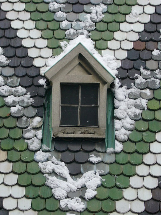 Snow, Roof, Winter