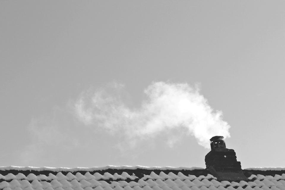 Roof, Smoke, Winter, Energy Consumption, Winter Time