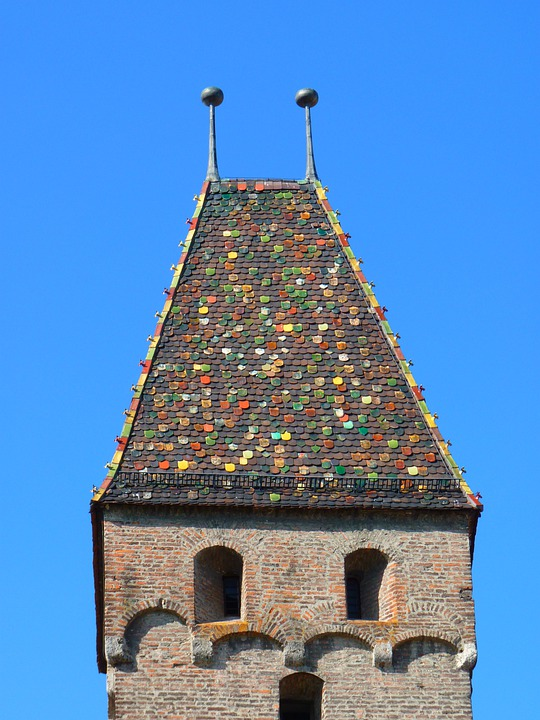 Metzger Tower, Tower, Roof, Ulm, Roofing, Colorful