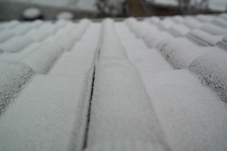 Roofing, Hoarfrost, White, Snow, Roof
