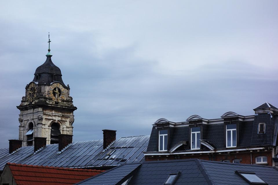 Brussels, Roofs, City, Sky, Belgium
