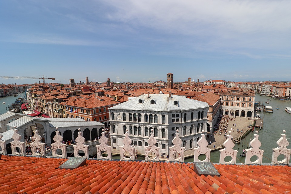 Venice, Roofs, Channel, Italy, Venezia, Roof, Panorama