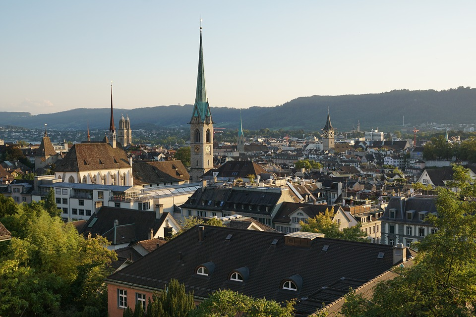 Zurich, Old Town, Churches, Switzerland, Roofs, City