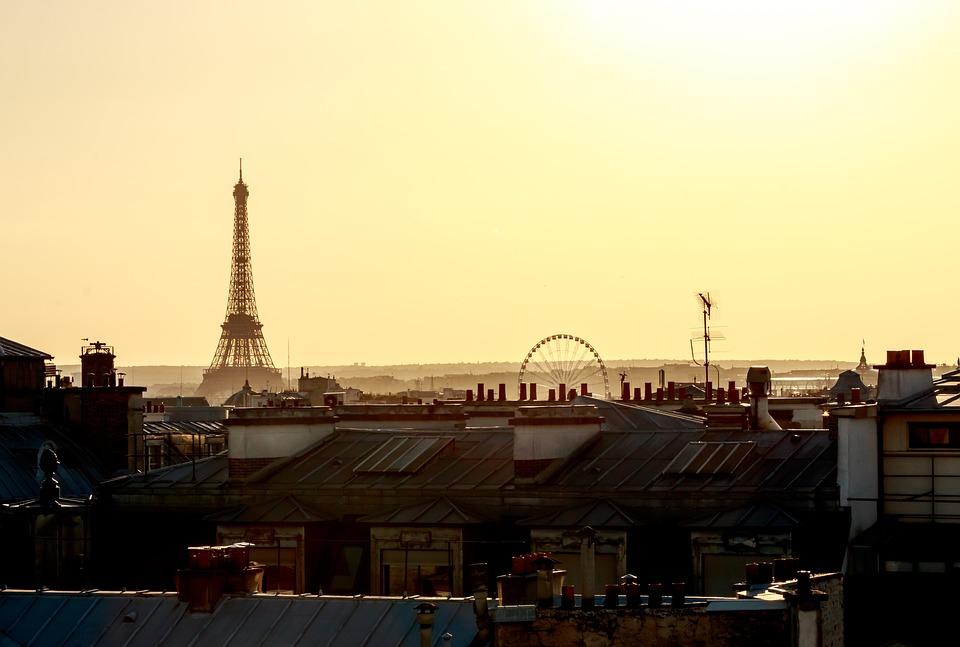 Paris, Rooftop, Eiffel Tower, Urban, Architecture