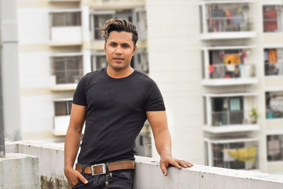 Stylish Guy, Boy, Rooftop, Black Shirt, Man, Hairstyle