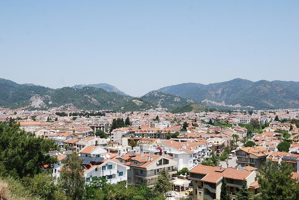 Marmaris, Turkey, Town, Rooftops, Turkish Riviera, View