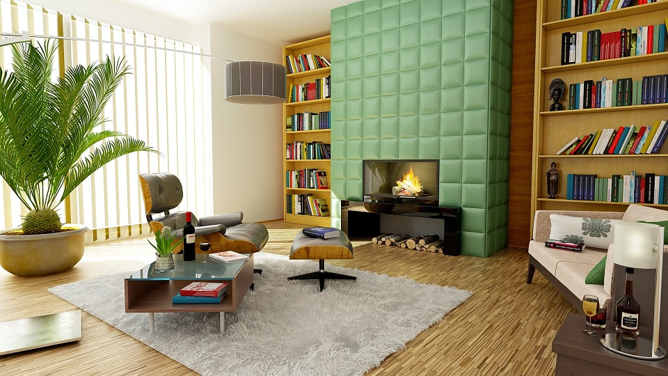 Fireplace, Apartment, Room, Interior Design, Decoration