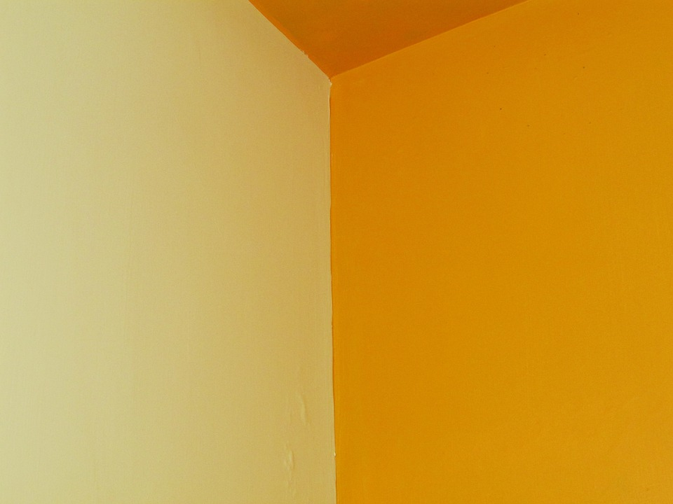 Free photo Room Color Combination White Edge Wall Yellow - Max Pixel