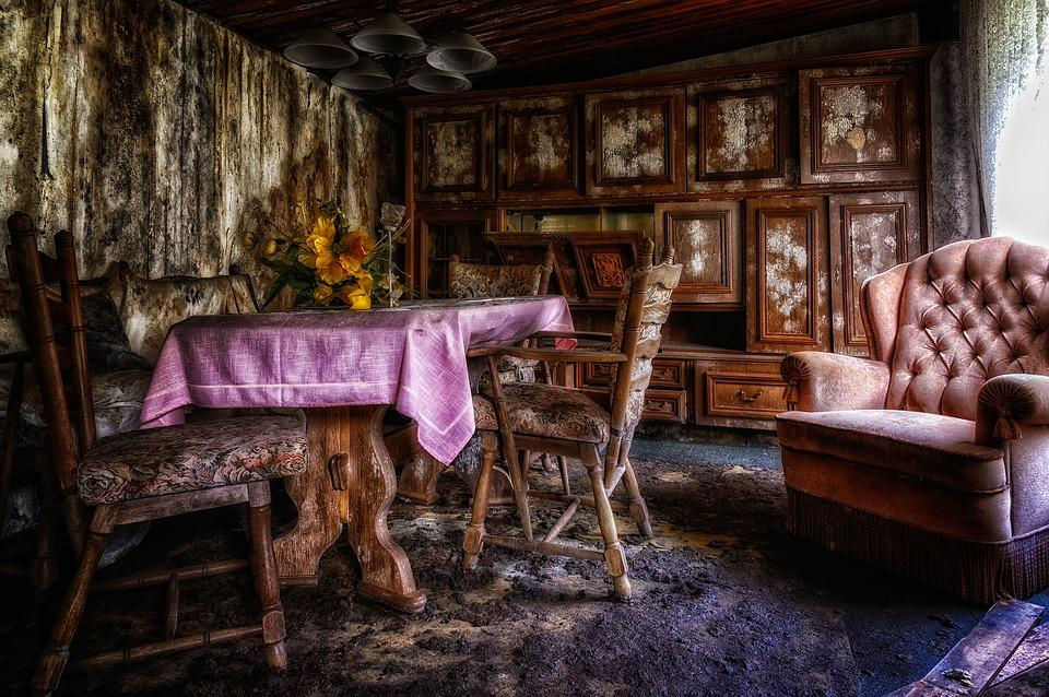 Lost Places, Room, Living Room, Pforphoto, Dilapidated