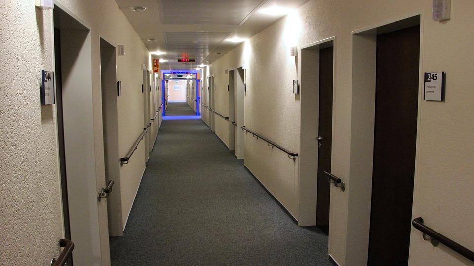 Hospital Corridor, Within, Room, Floor