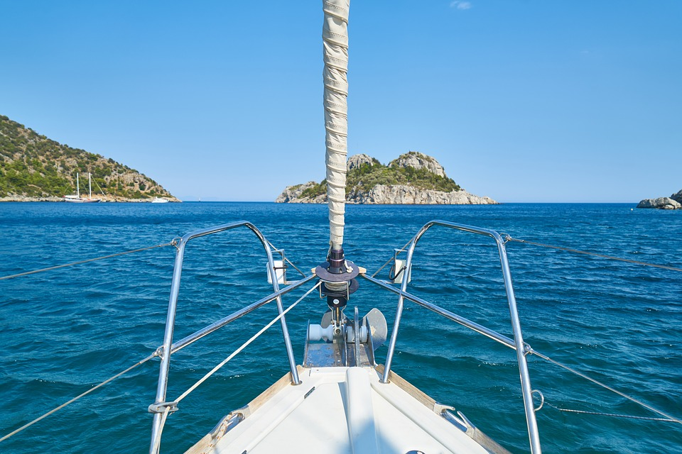 Boat, Front, Rope, Sail, Marine, Sky, Water, Blue