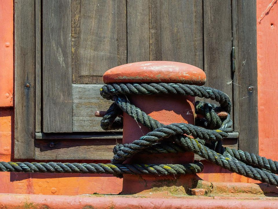 Rope, Red, Maritime, Knot