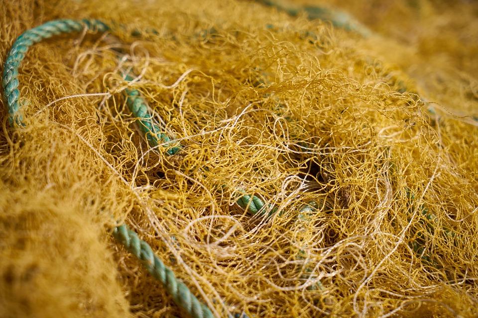 Network, Fisherman, Yellow, Rope, Fishing Line
