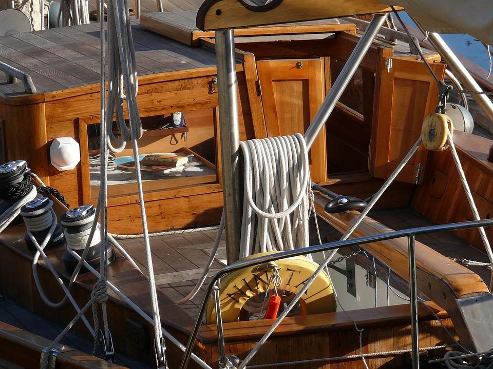 Sailboat, Wood, Rope, Regatta, Port, Water