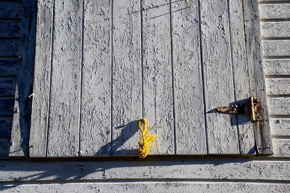Barn, Wood, Door, Rope, White Paint, Rural, Rustic
