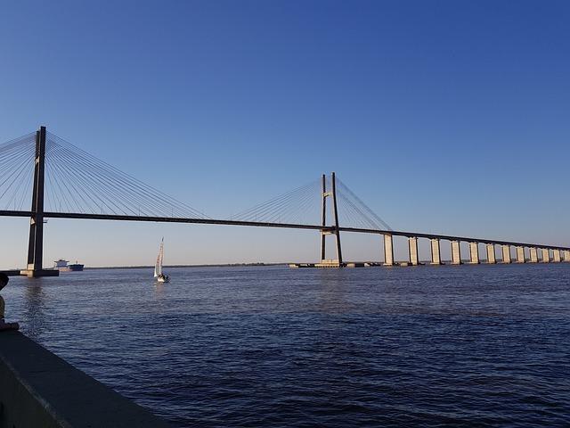 Bridge, Atardercer, Rosario, Santa Fe, Argentina