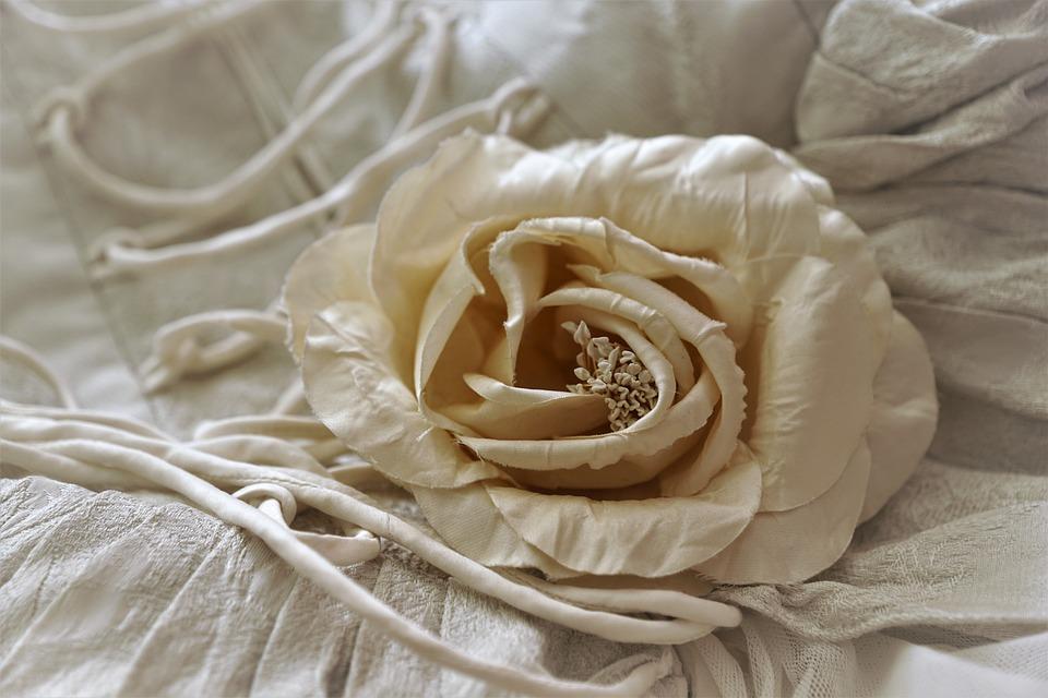 Rose, Flower, Fabric, Artificial, Texture