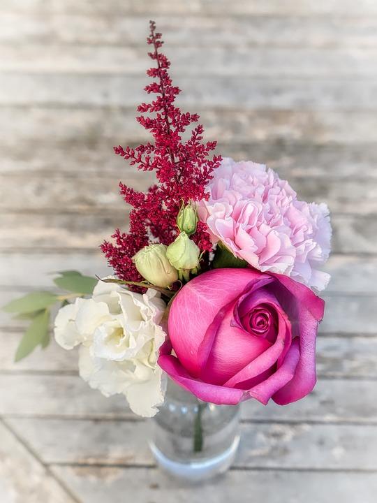 Bouquet, Rose, Arrangement, Wedding, Flowers, Romance