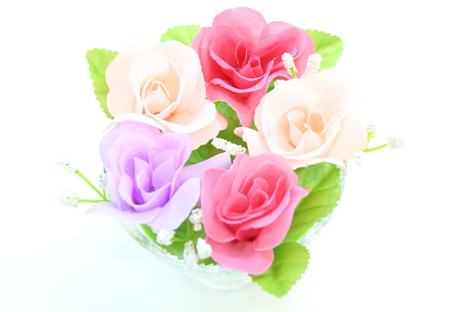 Flowers, Artificial Flowers, Red, Pink, Purple, Rose