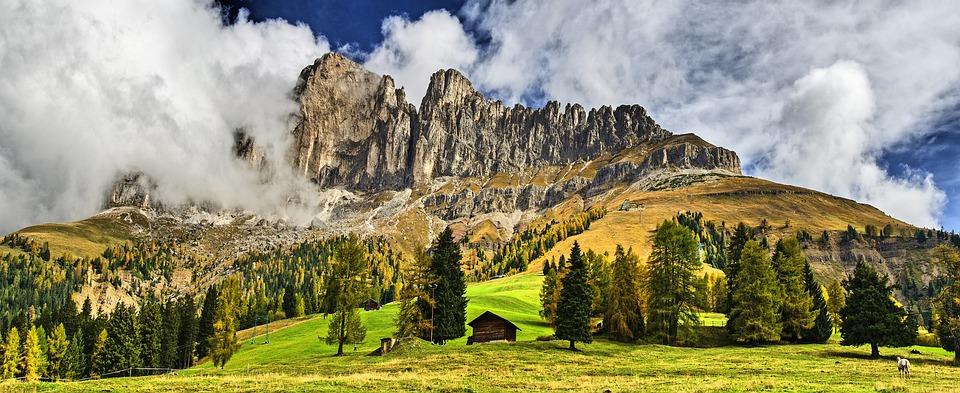 Rose Garden, Mountains, South Tyrol, Alpine Panorama