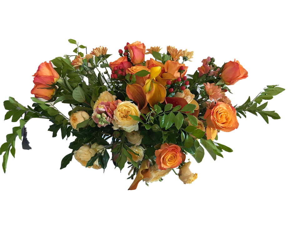 Rose, Orange, Bouquet