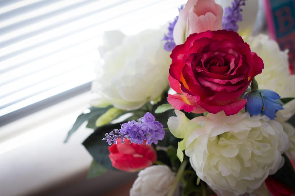 Flowers, Rose, Peony, Bouquet, Artificial Flowers