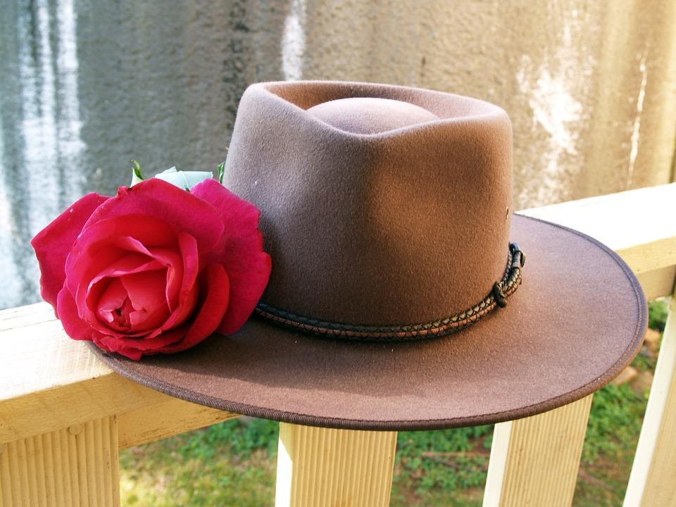 Rose, Red, Hat, Stockman, Cattleman, Cowboy, Brown