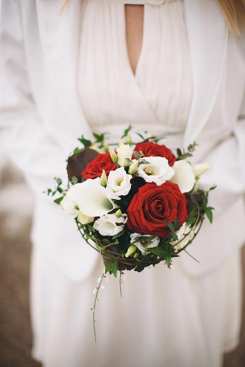 Wedding, Bouquet, Flower, Rose, Bride, Woman