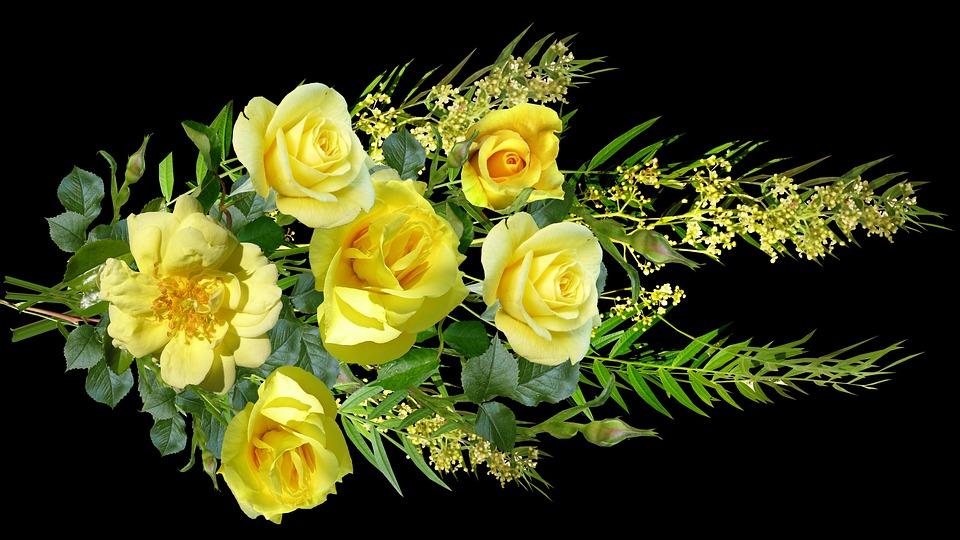 Free photo Roses Arrangement Yellow Flowers Bouquet Blooms - Max Pixel