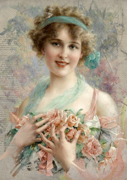 Free photo roses art collage vintage romantic hair woman max pixel vintage woman art collage hair romantic roses sciox Gallery