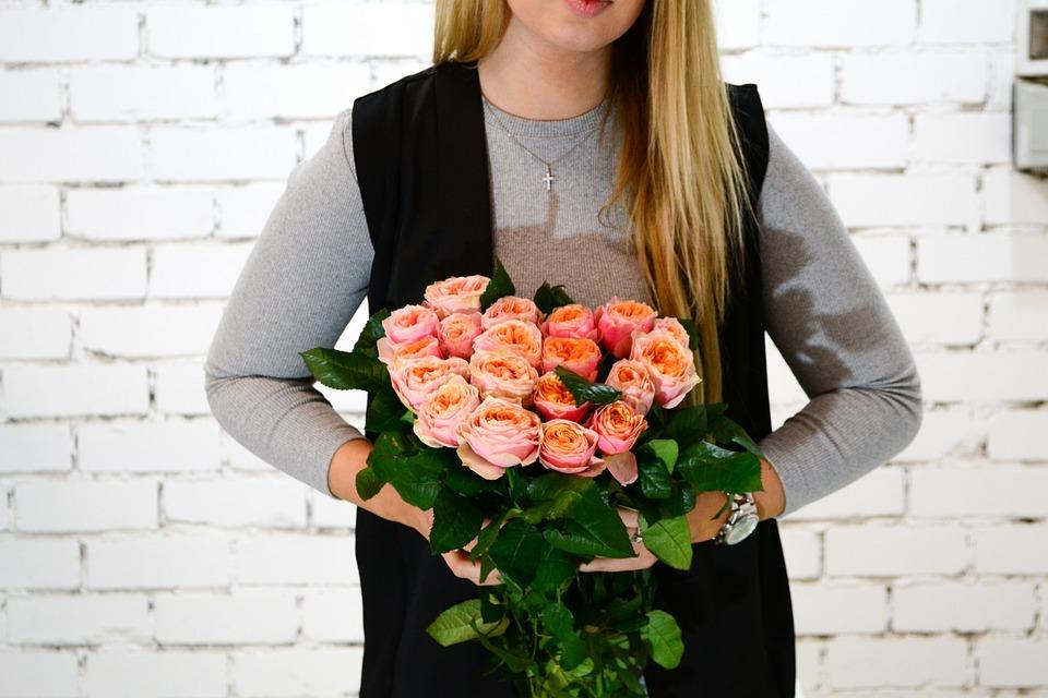 Russia, Roses, Flowers, Woman, Beauty, Tempting, Loft