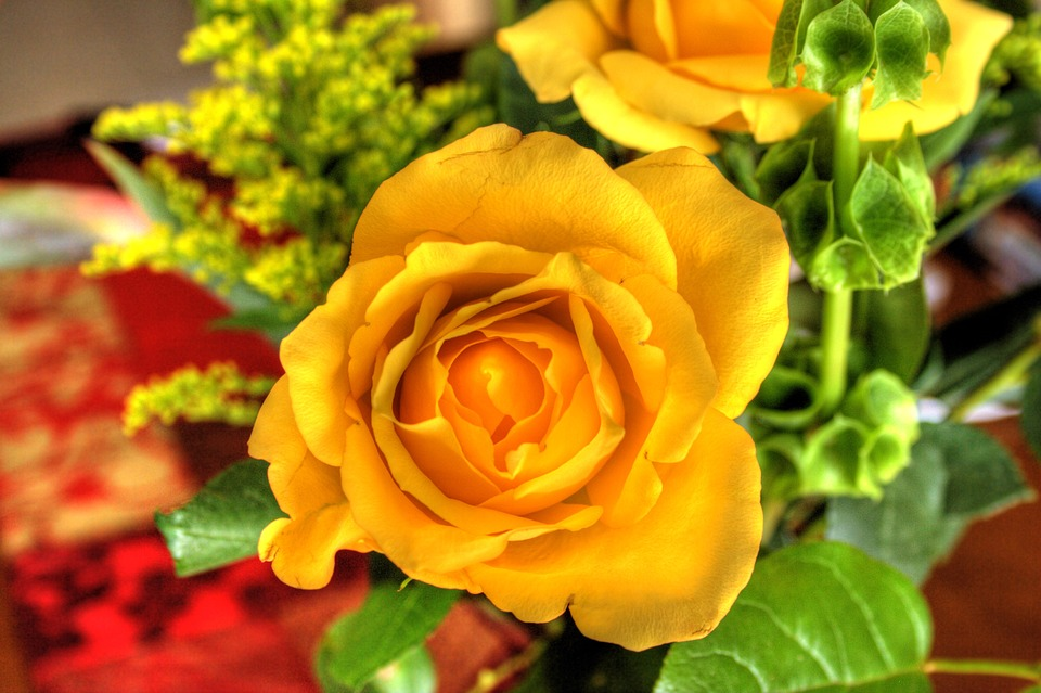 Flower Bouquet, Roses, Yellow, Bouquet, Floral, Blossom