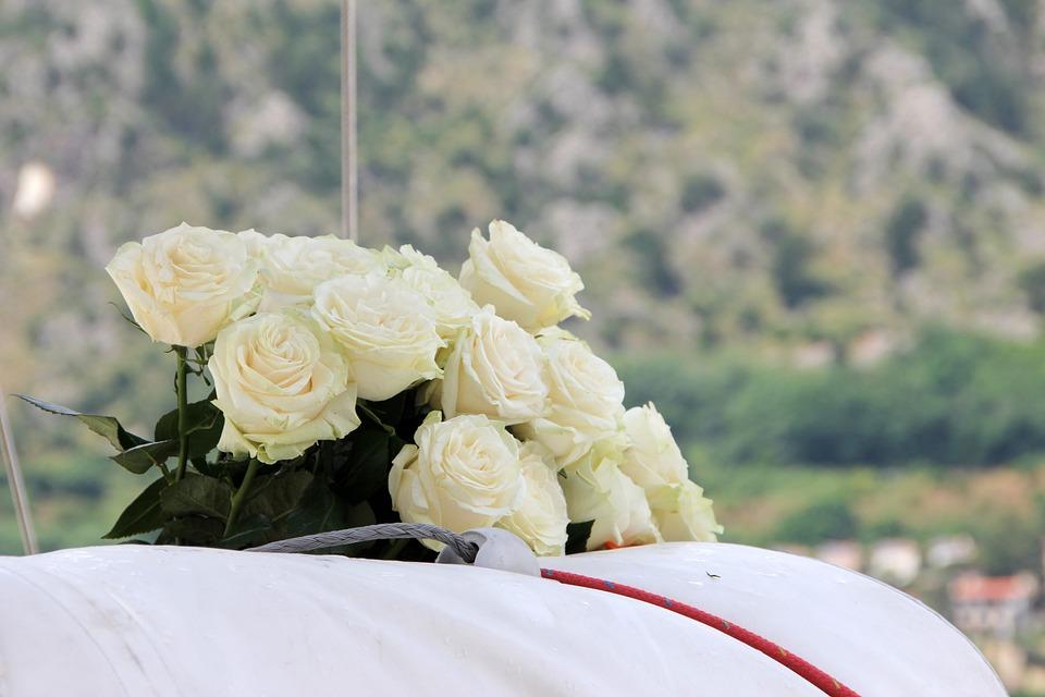 Bridal Bouquet White Roses Wedding