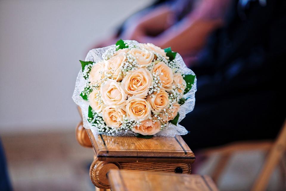 Bouquet, Wedding, Flowers, Roses, Romantic, Celebration