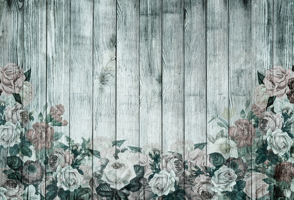 Roses On Wooden Wall, Playful, Roses, Wood, Background
