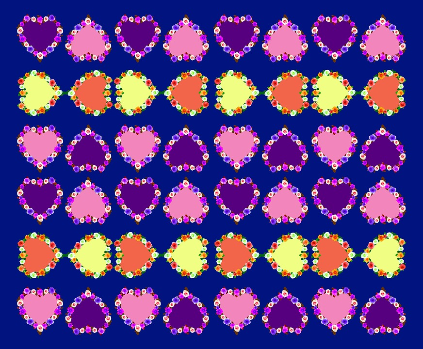 Rose Pattern, Roses, Heart, Background Image, Romance