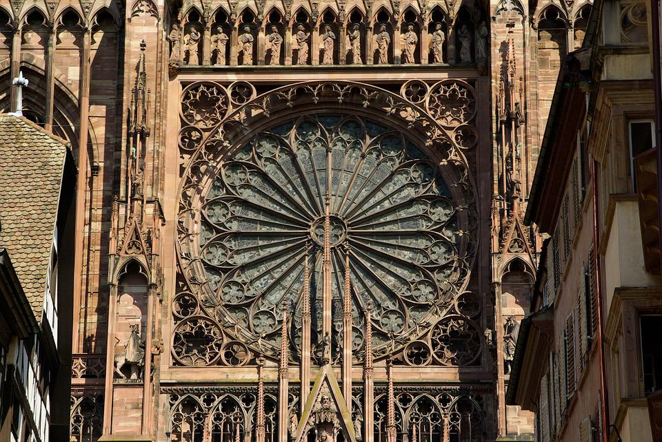 Strasbourg, Cathedral, Gothic, Rosette