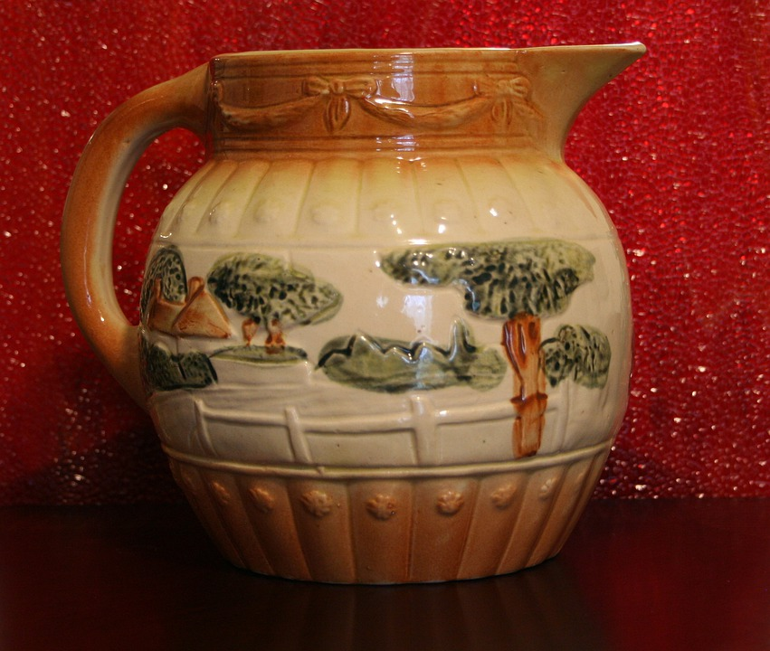 Pitcher, Water, Milk, Pottery, Roseville, Antique