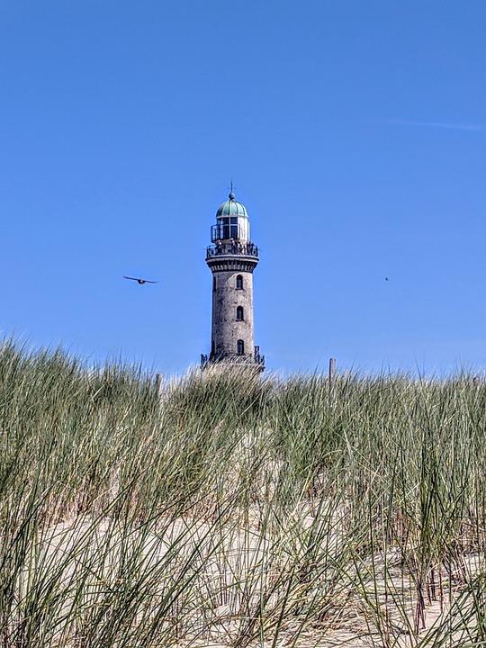Lighthouse, Warnemünde, Baltic Sea, Sky, Rostock, Sea