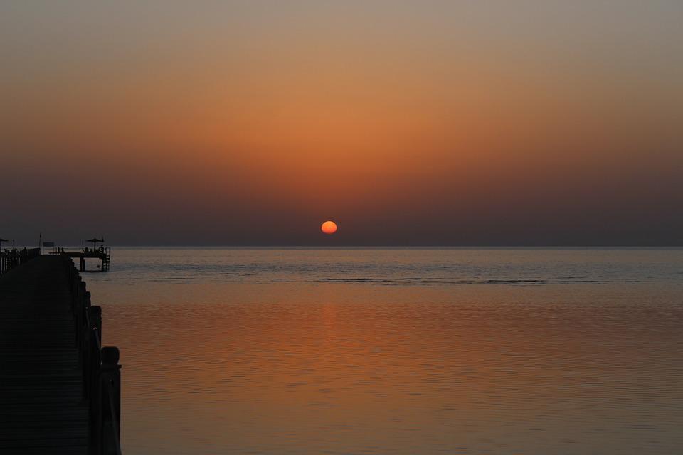 Sunrise, Egypt, Sea, Ocean, Rotesmeer, Morgenstimmung