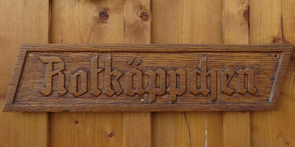 Wooden Sign, Fairy Tales, Rotkäppchen