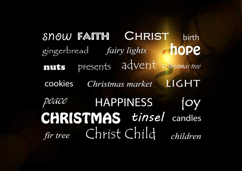 Christmas, Words, Rotnadvent, Joy, Christmas Tree