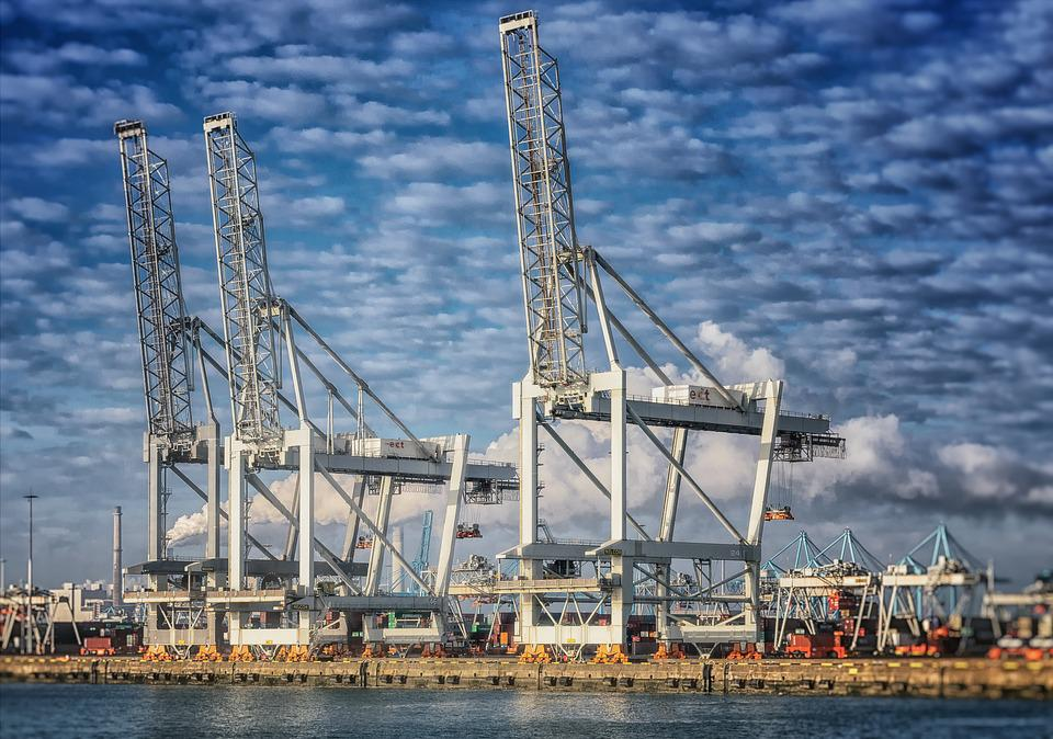 Port, Crane, Rotterdam, Netherlands, Holland