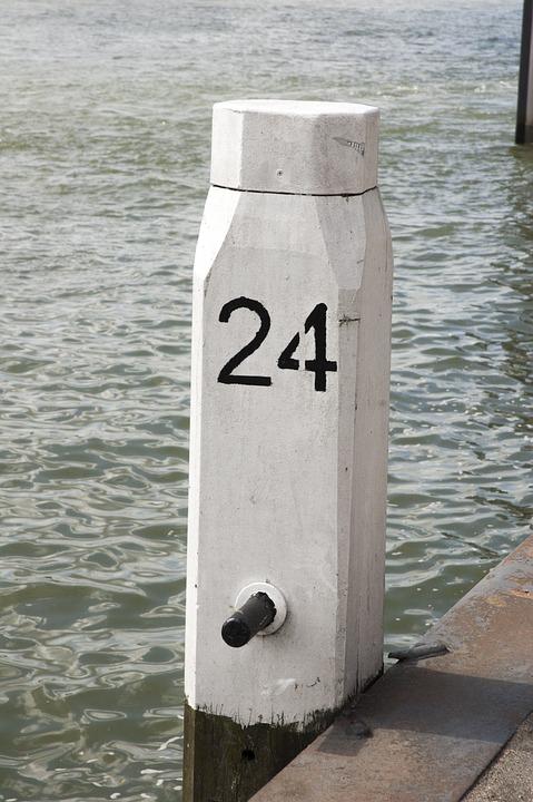 Meerpaal, Fix, Ships, River, Water, Mesh, Rotterdam