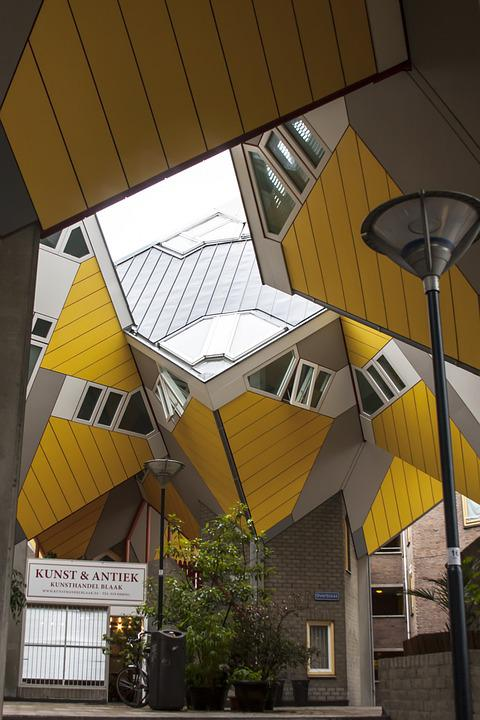 Rotterdam, Netherlands, Cube Houses, Architecture